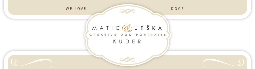 Creative Dogportraits by Matic & Urška Kuder, fotografiranje psov, pasji portreti, pet photography, dog portraits, dog photography logo